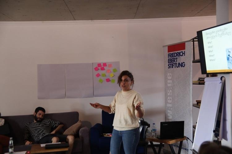იდეების კონკურსი - ტრენინგი პროექტის წერისა და მენეჯმენტის თემაზე
